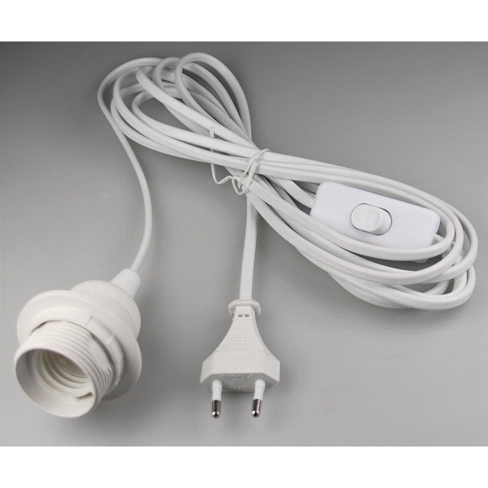 netzkabel mit schalter e27 lampenfassung 3 5m kabel leuchten fassung stecker ebay. Black Bedroom Furniture Sets. Home Design Ideas